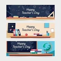 Teachers Day Banners vector