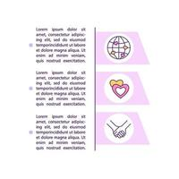 Online dating pros concept line icons with text vector