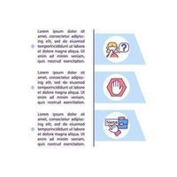 iconos de línea de concepto de anonimato con texto vector