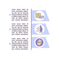 Ghosting signs concept line icons with text vector