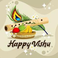 Happy Vishu Celebration Illustration Design vector