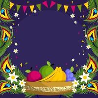 Happy Vishu Festival Background vector