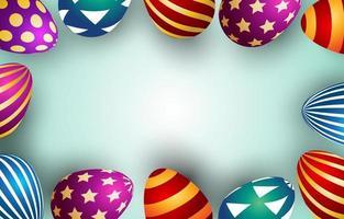 Gold Easter Egg Background Template vector
