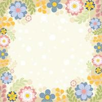 Vector Floral Spring Background Template
