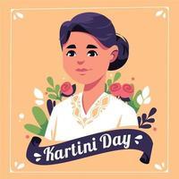 Kartini Day Illustration with women representing Kartini vector