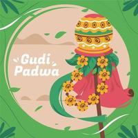 Colorful Gudi Padwa Festivity Illustration vector