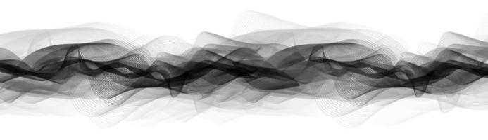 onda de sonido panorámica vector
