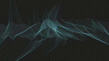 Onda de sonido digital abstracta sobre fondo negro vector