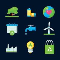 Earth Day Icons Collection vector