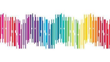 Fondo de onda de sonido digital colorido vector