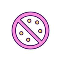 Allergy risk reduction RGB color icon vector
