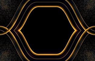 Gold and Black Luxury Background vector