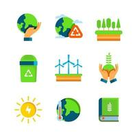Earth Day Go Green Icon Collection vector