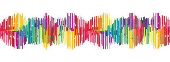Fondo de onda de sonido digital colorido abstracto vector