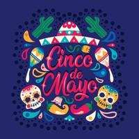 Text Background for Cinco de Mayo vector