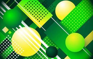 Geometric Green Background vector