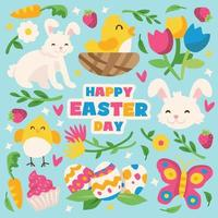 Easter Day Icon Set vector