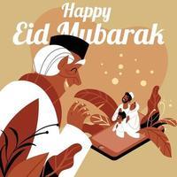 New Normal Eid vector
