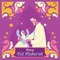 Eid Mubarak Concept vector