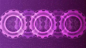 Fondo de tecnología de engranajes técnicos ultravioleta. vector