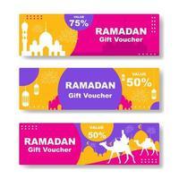 Colorful Ramadan Gift Voucher vector