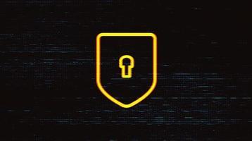 escudo de tecnología digital vector