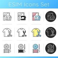 conjunto de iconos de servicios de costura vector