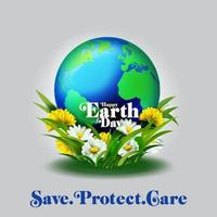 Earth Day Concept in 3D vector