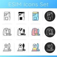 Clothes repair icons set vector