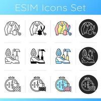 conjunto de iconos de alteración de ropa vector