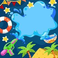 Songkran Celebration Event Background vector