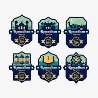 Set of Ramadan Labels vector