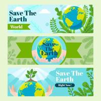 Save the Earth set of Banners vector