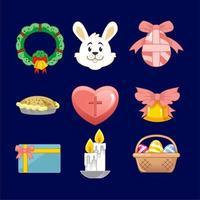 Easter Bunny Icon Set vector