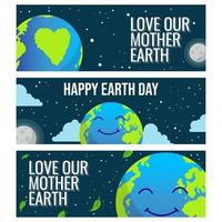 Earth Day Banner vector