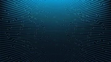 Microchip de circuito azul sobre fondo de tecnología vector