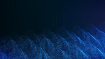 Modern Digital Sound Wave Background vector
