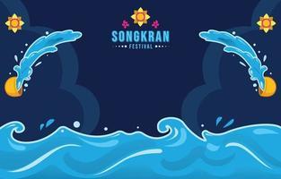 Songkran Festival Day vector