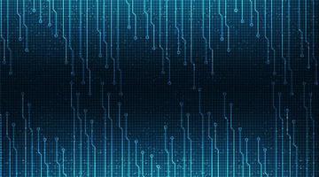 circuito de microchip digital sobre fondo de tecnología vector