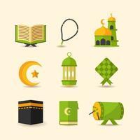 Eid Mubarak Icon Set