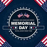 Memorial Day Frame Concept vector