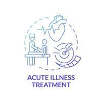 tratamiento de enfermedades agudas icono azul degradado concepto vector