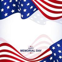 Memorial Day Background vector