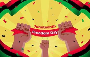 feliz día de la libertad del 18 de junio vector