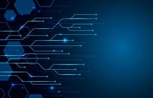Dark Blue Modern Technology Background vector