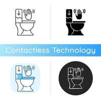 Touchless toilet flush icon vector