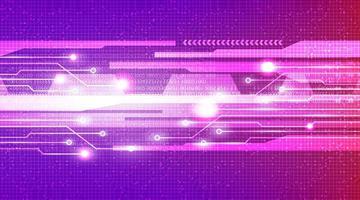Luz de velocidad futurista en el fondo de tecnología de microchip de circuito vector