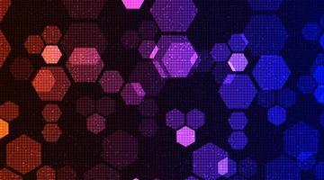 fondo de tecnología de polígono moderno vector