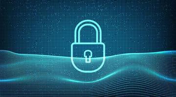 Digital Technology Lock Security vector