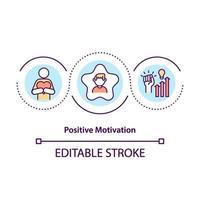 icono de concepto de motivación positiva vector